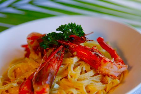 Garlic King Prawn Pasta